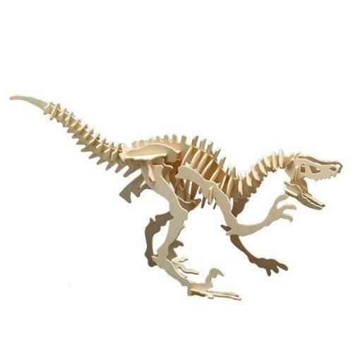 Holz Bausatz Dinosaurier Velociraptor 47-tlg. 53x30 cm Steckbausatz f. Kinder Holzbausatz