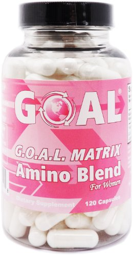GOAL Naturals - G.O.A.L. MATRIX Amino Acids Complex Pills for Women 120 Capsules Easier to Swallow - High Potency L-Glycine L-Ornithine L-Arginine L-Lysine Combination Anti-Aging Blend - Best NO Supplement Tablets - Nitric Oxide Boosters