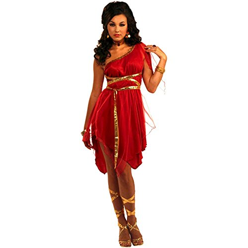 Ruby Red Goddess Toga Adult Costume - Standard