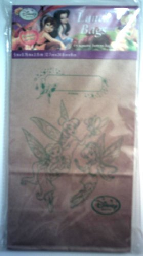 Disney Fairies Brown Lunch Bags