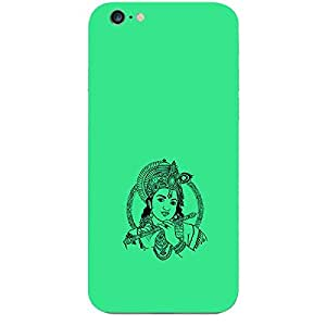 Skin4gadgets Lord Krishna - Line Sketch on English Pastel Color-Turquiose Green Phone Skin for APPLE IPHONE 6S PLUS