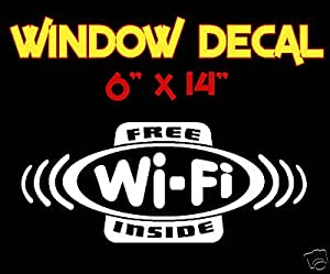 Free Wi-fi Inside Decal Sticker Window Sign Business Internet Access