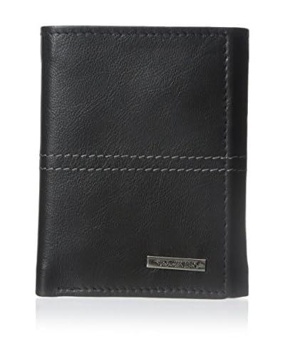 Steve Madden Men's Kid Center TR Wallet, Black, One Size