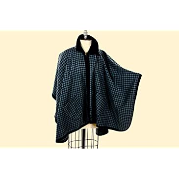 Black & Grey Houndstooth Wrap