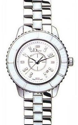 Christian Dior Women's CD113111M002 Christal Diamond White Dial Watch