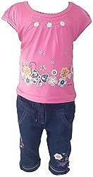 Bisbasta Baby Girl's Dress (fidatoptj2_Pink::Blue_18 to 24 Months)