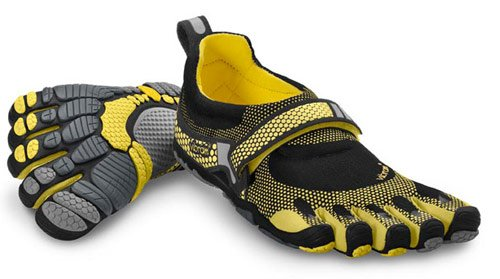 Vibram Fivefingers Bikila Mens Running Black/Yellow (M3484), 44