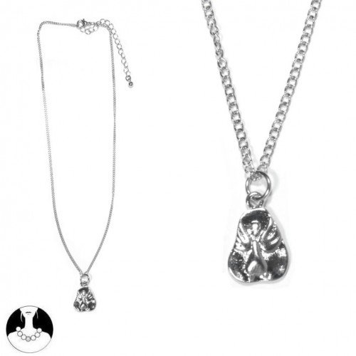 sg paris teenager necklace necklace 40cm+ext rhodium lead free metal
