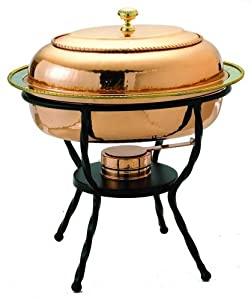 Oval Dcor Copper Chafing Dish