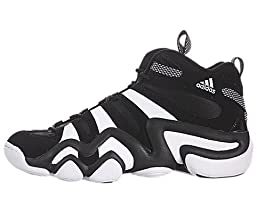 adidas Performance Men\'s Crazy 8 Basketball Shoe, Black/White/Black, 11.5 M US