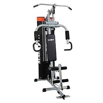 6e5138103be35c Conveniente Klarfit The Mountain panca attrezzi multifunzione palestra per  addominali grigia pesi: Sport e tempo libero