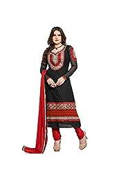 Blissta Black embroidered geogette Unstitched karachi suit