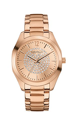 Caravelle New York Women's Quartz Watch with Silver Boyfriend Analog Quartz Stainless Steel Coated 44L160