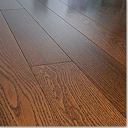 Stained Red Oak Flooring Gunstock / Natural / 4 1/4 in. / Semi-Gloss