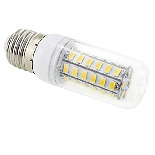 Generic E27 7W 48X5730 Smd 550~600Lm 3000~3500K Warm White Light Led Clear Cover Corn Bulb Ac 220V~240V