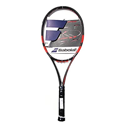 Babolat 101197-192 Pure Strike 18/20 Unstrung Tennis Racquet, 4 3/8 (Black/Fluo/Red)
