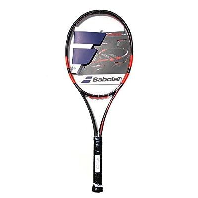 Babolat 101197-192 Pure Strike 18/20 Unstrung Tennis Racquet, 4 3/8 (Black/Fluo/Red)