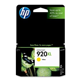 HP 920XL Officejet Ink Cartridge in Retail Packaging-Yellow