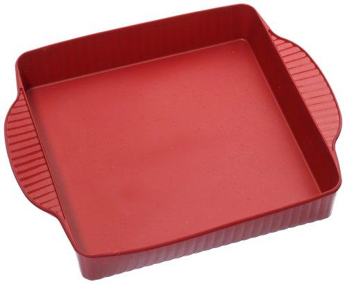 Roshco Silicon Square Cake Pan, Red - Buy Roshco Silicon Square Cake Pan, Red - Purchase Roshco Silicon Square Cake Pan, Red (Lifetime Brands, Home & Garden, Categories, Kitchen & Dining, Cookware & Baking, Baking, Cake Pans, Square & Rectangular)