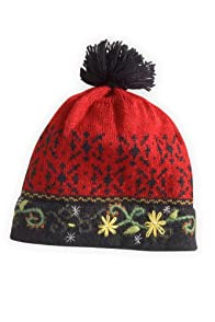 Tey-Art Erica Alpaca Hat (Red/Black)