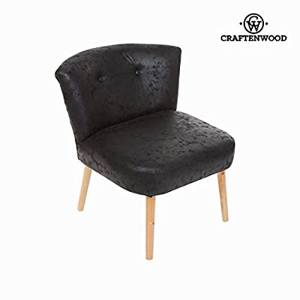 Poltrona retrò nero antico by Craften Wood (1000026698)