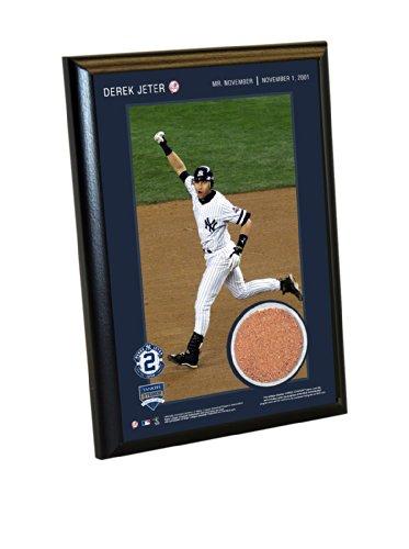 "Steiner Sports Memorabilia Derek Jeter Moments: Mr. November 4"" X 6"" Dirt Plaque front-871621"