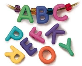 Creativity Street AC3253DI Plastic Cube Uppercase Letter Bead, Assorted Color, 2