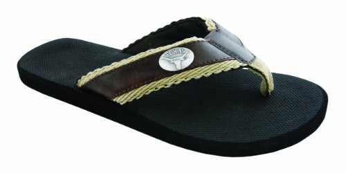 NCAA Texas Longhorns Men's Braided Concho Flip Flops, Brown, 11 at Amazon.com