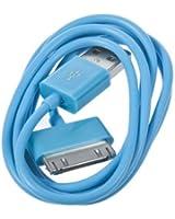 BestOfferBuy - Câble chargeur USB de couleur Turquoise pour APPLE iPad, iPhone et iPod