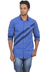 Rapphael Men's Full sleeve Casual Shirt -BLUE