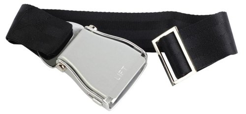 aereo-skybelt-cintura-argento-nero-airline-seat-belt-flying-cintura