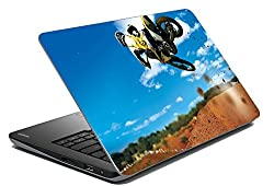Romanshopping Bike Laptop Skin (Multicolored)