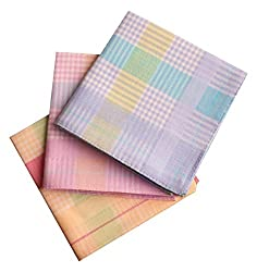 Romano Womens/Girls Vintage Multi Checkered Wedding Party Cotton Handkerchief...
