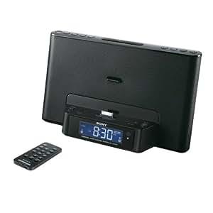 Sony ICFDS15IPB Dockingstation DS 15 für Apple iPod/ iPhone mit Uhrenradio schwarz