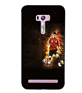 PrintVisa Sports Football 3D Hard Polycarbonate Designer Back Case Cover for Asus Zenfone Selfie