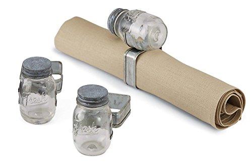 Mud Pie Preserve Jar Napkin Ring, Clear (Pie Mason Jars compare prices)