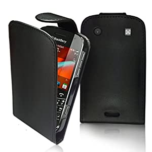 Supergets® Blackberry Bold 9900 Top Flip PU Leather Case, Screen Protector And Polishing Cloth
