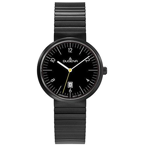 Dugena 4460683Reloj analógico para mujer reloj de acero inoxidable 30m Fecha Negro