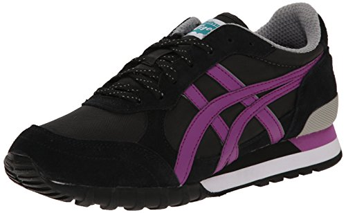 Onitsuka Tiger Women's Colorado Eighty-Five Classic Running Shoe, Black/Hyacinth Violet, 8 M US