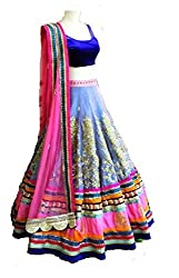 Siya Fashion women's Velvet, Net And Jequard Party Wear Unstitched Lengha Choli(SF337_multi color)