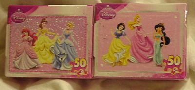 Disney Princess 50 Piece Mini Puzzles - Set of 2