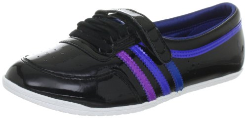 adidas Originals CONCORD ROUND G60721, Damen Ballerinas, Schwarz (BLACK 1 / LAB PURPLE F12 / LAB BLUE F12), EU 38 (UK 5)