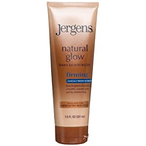 Jergens Natural Glow Firming Medium Tanning Lotion,  7.5-Ounces (Pack of 3)