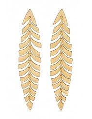 Amethyst By Rahul Popli Yellow Silver Stud Earrings