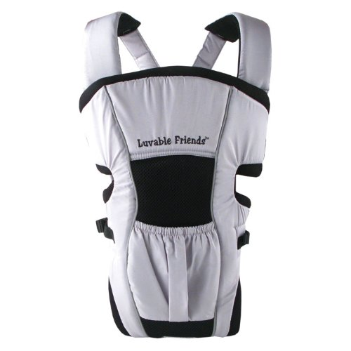 Luvable Friends Deluxe Baby Carrier, Silver