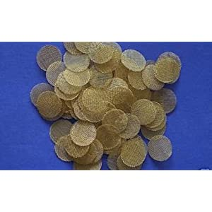 "100 Pc 3/4"" Brass Tobacco Vaporizer & Pipe Screen Screens"