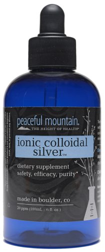 Peaceful Mountain Ionic Colloidal Silver 20 Ppm - 6 Oz, 3 Pack (image may vary)