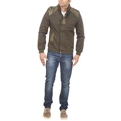 Fusion Technocraft Men's Blended Jacket (Size - XXL, Olive)
