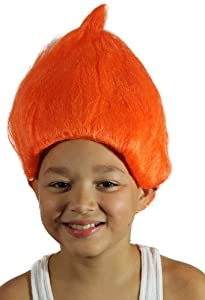 My Costume Wigs Treasure Troll Wig (Orange) One Size fits all