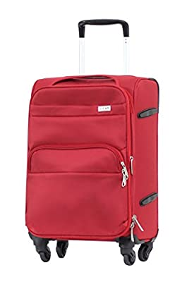 "Valise Taille Cabine 55 cm Alistair ""Plume"" - Toile Nylon Ultra Légère - 4 Roues"